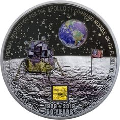 NASA Humans First Landing Womdee 2019 New Apollo 11 50th Anniversary Commemorative Coin with Precious Pictures Coin Jewelry Collection Art Gift Souvenir Novelty Coin Set of 2