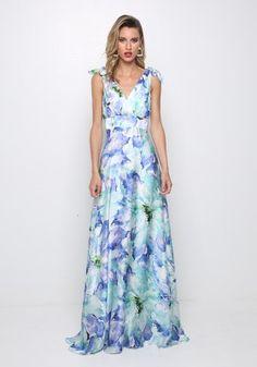 Φόρεμα με φλοραλ τύπωμα Dresses, Fashion, Vestidos, Moda, Fashion Styles, Dress, Fashion Illustrations, Gown, Outfits