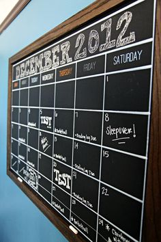 IHeart Organizing: Preston's Bedroom Update: A DIY Chalkboard Calendar