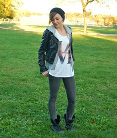 Punk chick fall outfit! Perfect for a concert
