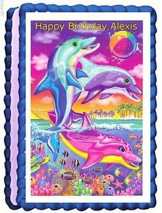 Lisa Frank edible cake toppers birthday decorations