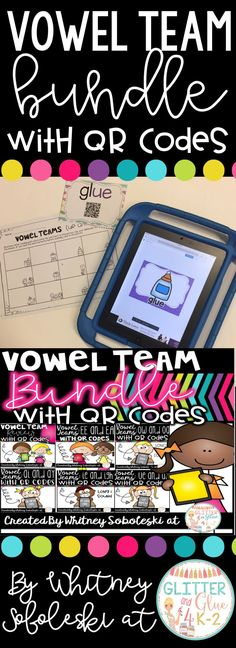 Get your students independently reading words with vowel teams/long vowels! Includes six sets of self-checking task cards, recording sheets, and an answer key. Keywords: vowel teams, task cards, technology, classroom technology, iPads in the classroom, QR Codes, first grade, second grade, long vowels, literacy centers, reading
