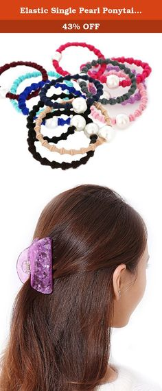 Elastic Single Pearl Ponytail Hair Ring & Large Catch Hair Claw Hairpin (purple grip & Tousheng). Direct factory price,outstanding quality,Fashionable style. Beautiful Headdress ring with your hair. Best match for your outfit with very low cost. This charming hairband will beautify your hair ~not a little ~~so beautiful~ pearl hair rope is the perfect hair decoration. Note: The pictures are of the actual products.But due to the different light and monitor setting. Minor color difference...