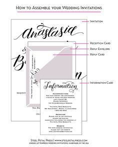 what is the wedding invitation assembly order? | wedding, Wedding invitations