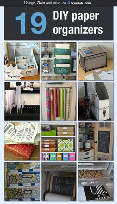 Vintage, Paint and more... Hometalk - DIY Paper Organizers A collection of DIY paper organizers to get those papers in your home corralled on a budget.