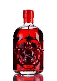 Skull shaped bottle of absinthe (2)