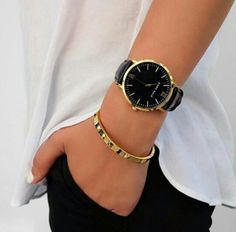 Marc Bale black/gold watch