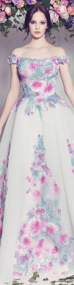 floral maxi dress @roressclothes closet ideas women fashion outfit clothing style Fadwa Baalbaki Couture Spring-summer 2016: