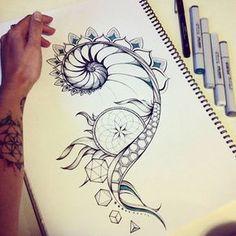 Fibonacci and sacred geometry tattoo design on Behance