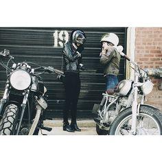 Gearing up with a couple Gringos this past weekend. #Honda #CX500 #Yamaha #SR250 #Biltwell @Biltwell Inc. #Padgram