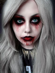 Макияж вампира пошагово