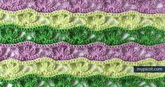 MyPicot | Free crochet patterns - LOVE These colours - they are my Scentsy colours :)