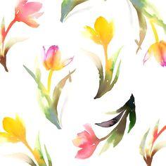 watercolor,illustration,flower,pattern,水彩,花柄,イラストレーション
