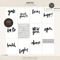 paislee press | Mantras Journal Cards
