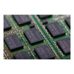 Macro photo of computer memory chips. Great gifts for geeks and computer fans. #computer #geek #chip #memory #chip #circuit #board #technology #hardware #computer #chips #chips #electronics