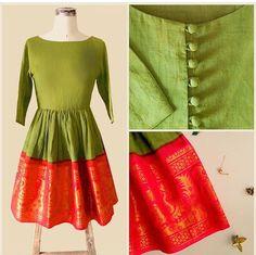 Mogra designs # border dress # classic bridesmaid Mehandi look # Indian fashion Salwar Designs, Blouse Designs, Long Gown Dress, Sari Dress, Dress Skirt, Kurta Patterns, Dress Sewing Patterns, Indian Gowns, Indian Outfits