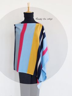 This colorful and multi-style cashmere wear is soft and lightweight. It is very versatile and perfect cover up for between seasons. It can be worn 4 ways as a poncho or shawl or scarf or vest. Ideal for travel it fits and folds easily into your handbag. So stylish, unique and match any outfit. Ab Fab, Cashmere Poncho, Outerwear Women, Wool Blend, Knitwear, Hot Pink, Cover Up, Vest, Buttons