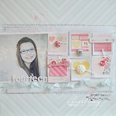 instagram instant poloroid framed blocks of patterned paper with accents by Wilna Furstenberg of iheartblog