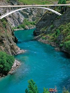 Queenstown, NZ ** I've bungy jumped off the Auckland Bridge but no way would I do this one!
