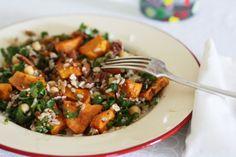 sweet potato and brown rice salad