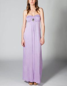 Long maxi dress in lilac purple