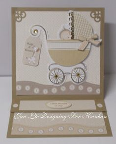Loves to craft. Kanban Birth and Celebration paper craft collection - foiled & die cut toppers.