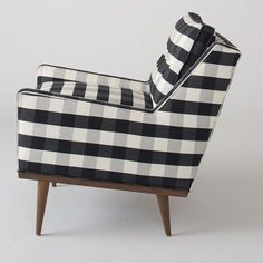 Plaid armchair. Looks kind of like Margie's chair
