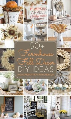 50 Farmhouse Fall Decor Ideas Give your home decor a cozy farmhouse makeover this Fall. These farmhouse Fall decor ideas will give your home a rustic, country look. There are over 50 ideas for indoor and outdoor decor. Easy Home Decor, Cheap Home Decor, Fall Crafts, Decor Crafts, Country Farmhouse Decor, Farmhouse Ideas, Farmhouse Design, Country Chic, French Country