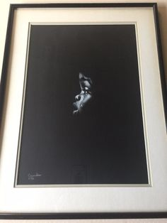 """Casandra Original Acrylic Painting """"Crying Boy"""" 1972, Signed, Framed #Realism"""