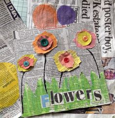 Easy Paper Crafts for Kids and AdultsHere we have tried to group our Paper Craft ideas by type! Origami for Kids Newspaper Crafts. Paper Quilling Ideas Coloring Pages for grown ups. Newspaper Crafts, Paper Crafts For Kids, Newspaper Flowers, Diy Paper, Spring Crafts For Kids, Art For Kids, Arte Elemental, Flower Vase Making, Spring Art