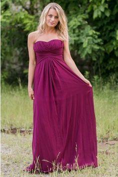 Plum Purple Maxi Bridesmaid Dress, Purple Maxi Prom Dress Online