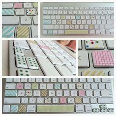 DIY Washi Tape Laptop Keyboard | Tenacity Solution
