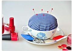 Nadeltässchen by www. Shops, Tableware, Pin Cushions, Products, Tents, Dinnerware, Tablewares, Retail, Dishes