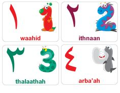 Children naturally love language, tap into that love and expand their knowledge by printing these free Arabic flashcards! This set of Arabic Number Flashcards, Sight Word Flashcards, Learn Arabic Alphabet, Alphabet For Kids, Ramadan, Baby Flash Cards, Vocabulary Flash Cards, Learn Arabic Online, Arabic Phrases