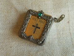 Miniature Bible Charm Vintage by Quilted Nest by QuiltedNest, $4.99