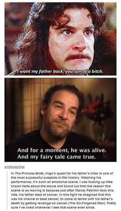 The real-life reason for the emotion behind Mandy Patinkin's climactic Princess Bride scene.