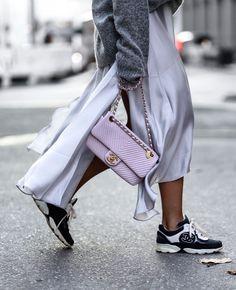 Chanel pink bag & Chanel sneaker