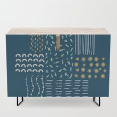 """A true statement maker. Our versatile mid-century modern inspired credenzas are great for use as TV stands, armoires, bar carts, office cabinets or the perfect complement to your bedroom set. The vibrant art printed on the doors will make your piece pop in any setting. Available in a warm, natural birch or a premium walnut finish.    - 35.5"""" x 17.5"""" x 30"""" (H) including legs   - Steel legs available in gold or black   - Interior shelf is adjustabl... Office Cabinets, Bar Carts, Walnut Finish, Tv Stands, Birch, Cleaning Wipes, Mid-century Modern, How To Draw Hands, Shelf"""