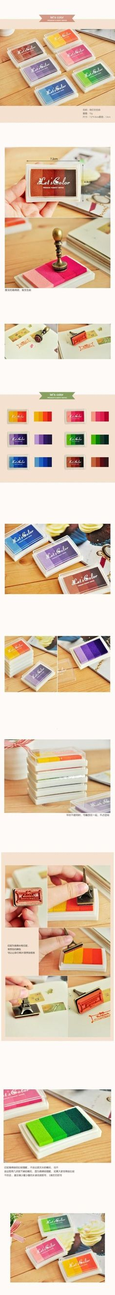 Multi Color de DIY gradiente de aceite conjunto de sello Ink Pad Inkpad Craft madera papel tela 6 scrapbooking material escolar oficina nueva en Sellos de Escuela y Oficina en AliExpress.com | Alibaba Group