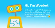 Woebot is an Artificial Intelligence (AI)-based Therapy Chatbot that uses Cognitive Behavioral Therapy techniques to help you with depression and anxiety. Behavioral Science, Cognitive Behavioral Therapy, Clinical Psychologist, Depression Help, Speed Dating, Psychiatry, Artificial Intelligence, How To Know, Self Help