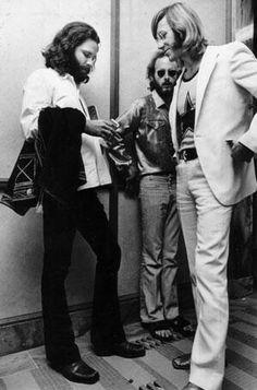 Jim Morrison, Robby Krieger & Ray Manzarek