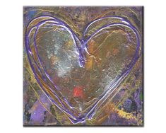0260. Heart Painting  Original Art  Heart Painting on Canvas