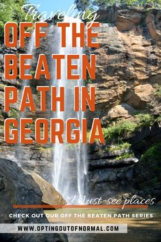 By all means see the beautiful state of Georgia and all the popular places like Savannah and Atlanta! But if you're looking for something more unique, quiet and different to do, check out our list of off the beaten path things to do in Georgia. Georgia Us, Hiking In Georgia, Atlanta Georgia, Visit Atlanta, Savannah Georgia, Time Travel, Places To Travel, Places To Go, Travel Destinations