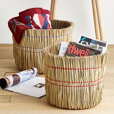 2-Pc. Set of Broom Baskets | dotandbo.com