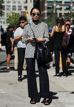 Pin for Later: Updated! The Best Street Style From New York Fashion Week New York Fashion Week, Day 8 Margaret Zhang.