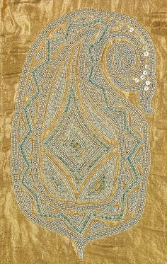 [Detail view: silk metallic textile attributed to Sarah Lipska (Polish, 1882–1973). Brooklyn Museum Costume Collection at The Metropolitan Museum of Art, Gift of the Brooklyn Museum, 2009;