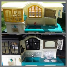 Plastic Toy Kitchen Makeover Before And After