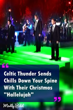 "Celtic Thunder Performs Powerful ""Hallelujah"" And It's Giving Everyone Goosebumps Cool Music Videos, Good Music, Christmas Music, Christmas Time, Irish Songs, Celtic Music, Celtic Thunder, Amazing Songs, Irish Celtic"