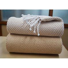 Found it at Wayfair - Elegancia Cotton Chevron Throw Blanket