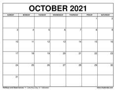October 2021 Calendar Blank Monthly Calendar Template, Excel Calendar, Calendar Layout, Free Printable Calendar, Yearly Calendar, 2019 Calendar, Calendar Design, Calendar Templates, Planner Template